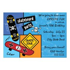 Skateboarding Party Announcement