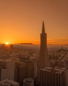 San Francisco sunrise by @imanor #sanfrancisco #sf