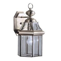 Kichler Lighting Embassy Row 14.75-in H Antique Pewter Outdoor Wall Light