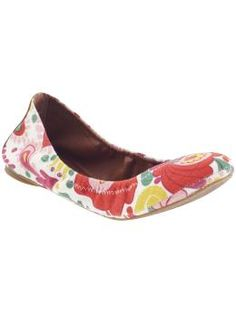 """My love of ballet flats is not subsiding! Lucky brand """"Emmie"""" bright print ballet flats $59"""