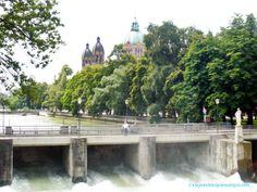 Río Isar. Munich, Niagara Falls, Germany, Nature, Travel, Paths, Viajes, Deutsch, Naturaleza