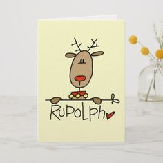 the Reindeer T-shirts and Gifts Holiday Card Cute Christmas Cards, Xmas Cards, Diy Cards, Holiday Cards, Christmas Crafts, Christmas Decorations, Christmas Design, Holiday Gifts, Watercolor Christmas Cards