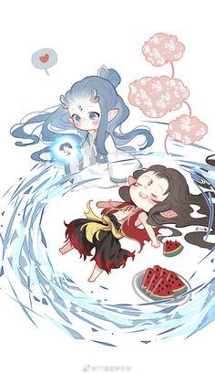 Read Dou ngắn from the story [DROP]《Natra và Ngao Bính》Fanart + Doujinshi by with 885 reads. Kawaii Chibi, Cute Chibi, Anime Chibi, Manga Anime, Anime Art, Chinese Cartoon, Manga Cute, Slayer Anime, Fantastic Art