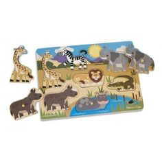 Have you been searching for a wooden peg puzzle to help with your child's development? Well then look no further then this Safari Peg puzzle with extension activities by Melissa & Doug. Wooden Pegs, Wooden Puzzles, Jigsaw Puzzles, Bern, Toddler Toys, Baby Toys, Safari Animals, Wild Animals, Puzzles For Toddlers