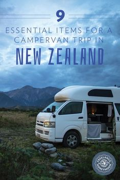 9 Campervan Items for New Zealand After a spending month in a campervan around New Zealand, here are our top essential items we recommend everyone carry with them! New Zealand Itinerary, New Zealand Travel Guide, Camping New Zealand, Visit Australia, Australia Travel, New Zealand Campervan, Campervan Nz, Campervan Australia, Campervan Rental