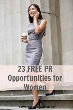 MARKETING: 23 Free PR Opportunities for Women. #women
