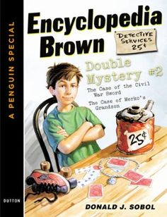 """Encyclopedia Brown Double Mystery #2 by Donald J. Sobol, Click to Start Reading eBook, This special introductory offer features some of Encyclopedia Brown's first cases ever: """"The Case of"""