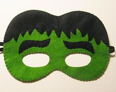 10 felt Superhero masks party pack 2 years-adults by FeltFamily