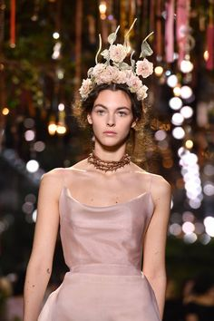 Sfilata Dior Haute Couture Primavera Estate 2017   Modella Vittoria Ceretti   FOTO