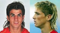 More footballer euro mullets on show here.