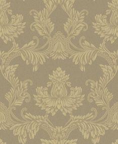 Clara Pluma Antique Gold wallpaper by Albany