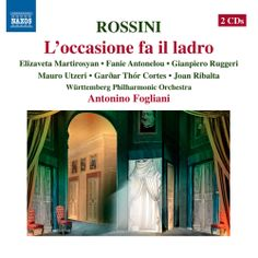 http://www.sfcv.org/listen/freemp3listen/freemp3/archive/rossini-l%E2%80%99occasione-fa-il-ladro#    Composed by the young Gioachino Rossini in 11 days, to comply with a contractual commitment, L'occasione fa il ladro (Opportunity Makes A Thief) is a comedy of multiple confusions. This single-act burletta is a moral drama, and Rossini has crafted interactions both tender and hilariously bewildering.