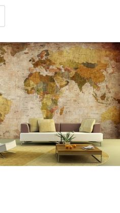 maybe a large antique looking map for a accent wall too :)