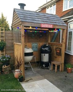 Garden Sheds Turned Into Bars grill shed, this is what i want to do for my grill | yard
