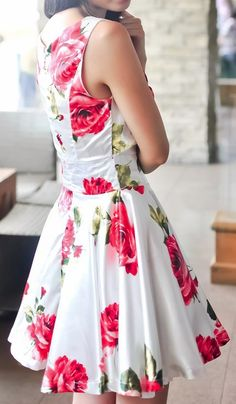 Rose Swing Dress, I like the style, maybe not the pink roses