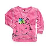 Hello Kitty Kids Top, Girls Graphic Hi-Low Top