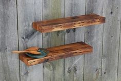 """Two Barn Wood Floating Shelves, 35"""" x 9.25"""", Kitchen, Bath eclectic-wall-shelves"""