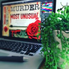 Working on the print cover for @michellesomers00 new #book - Murder Most Unusual. It's up for pre-order now at online ebook retailers. It's a romantic suspense about a writer and blends fact with fiction. Can't wait to read it!