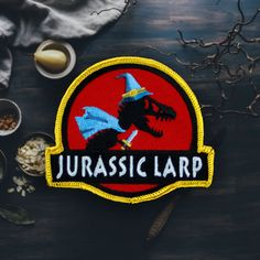 Jurassic Larp Patch Free Shipping US by ForTheLoveOfPatch on Etsy
