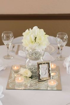 White, Ivory, Silver Wedding Party Ideas | Photo 1 of 6