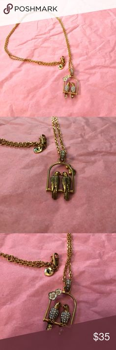 Juicy Couture necklace Never been worn. Gold chain with two birds kissing Juicy Couture Jewelry Necklaces