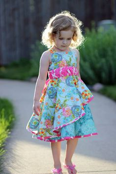 Tilt N Twirl Dress by Mandy K Designs — Pattern Revolution