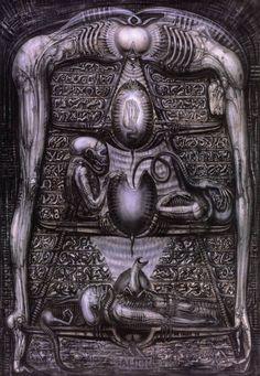 Alien Hieroglyphics ~ 1978 H.R. Giger (664×960)