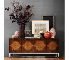 Williams-Sonoma Home: Wythe Burled Wood Double Console