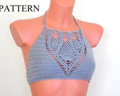 Crochet Pattern Vintage 70s CROCHET TOP PATTERN by Liloumariposa