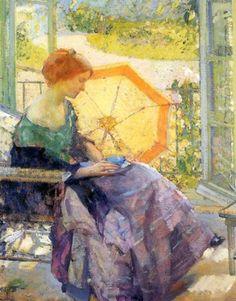 The Athenaeum - Teatime (Richard Edward Miller - 1914)