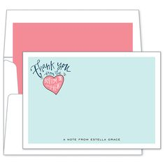 Thank You Note by Boatman Geller #stationery
