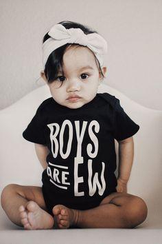 Custom, black tshirt,Funny, Boys are ew, Romper, baby, creeper, bodysuit, infant, custom, shirt,tops, baby bodysuit, Easter Gift by ReezThings