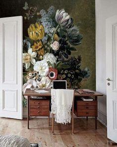 Lieblich Diese Tapete Erinnert An Ein Stilleben Als Ölgemälde U2013 Gedeckte Farben,  Viele Blüten! Entdecke