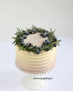 Marsispossu: Mustikka-suklaakakku, Buttercream cake