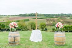 Cross Ceremony Decor Stone Tower Winery Wedding Virginia Wedding Photographer Megan Kelsey Photography