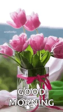 Birthday Flowers Bouquet Beautiful Roses Vase Floral Arrangements Ideas For 2019 Amazing Flowers, Beautiful Roses, My Flower, Beautiful Flowers, Orquideas Cymbidium, Deco Nature, Good Morning Flowers, Pink Tulips, Pink Roses