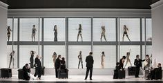 La Traviata from La Monnaie. Production by Andrea Breth. Sets by Martin Zehetgruber.