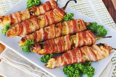 Bacon-wrapped Stuffed Anaheim Peppers