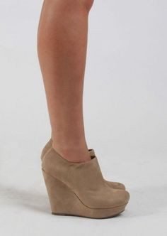 Suede Bootie With Wedge