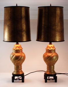 Asian Table Lamps Vintage Asian Table Lamp Ginger Jar Pagoda Crackle Turquoise