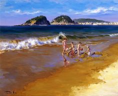 Ricardo Sanz. Playing On The Shore.