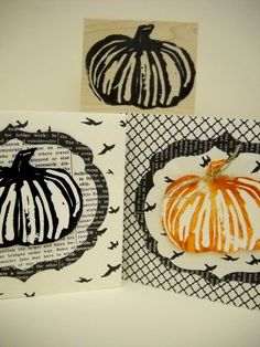 Carve your own pumpkin (in a whole new way) - Stampin Up Undefined Stamp