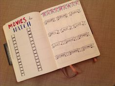 Bullet journal March Movies, Bullet Journal