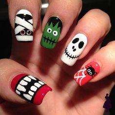 Are you looking for easy Halloween nail art designs for October for Halloween party? See our collection full of easy Halloween nail art designs ideas and get inspired! Nail Art Designs, Holiday Nail Designs, Holiday Nail Art, Halloween Nail Designs, Nails Design, Holloween Nails, Halloween Acrylic Nails, Cute Halloween Nails, Scary Halloween