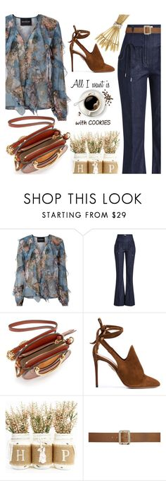 """Coffee Date"" by sara-cdth ❤ liked on Polyvore featuring Nicholas, Nina Ricci, Chloé, Aquazzura, A.P.C. and Tiffany & Co."