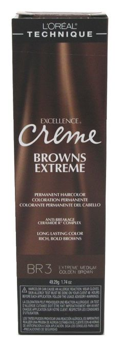 Loreal Excel Creme Extreme Browns -Br-3 Med Golden Brown (3 Pack) * Check this awesome product by going to the link at the image.