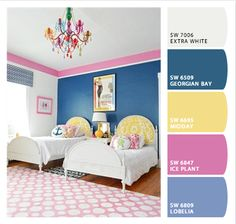 Blue for you and pink for me..  I even have a wall that would be GREAT for this, me too paint.