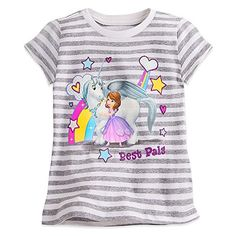 Disney Sofia the First Striped Tee for Girls Size XS 4 White456212550169 ** Read more  at the image link.Note:It is affiliate link to Amazon.