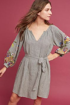 FeatherBone Lindsey Embroidered Tunic Dress