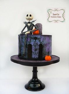 Mr. Jack Skellington  by Lori Mahoney (Lori's Custom Cakes)